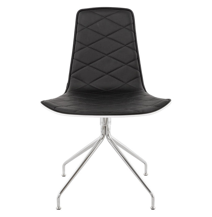 White and Black Retro Duo Dining Room Chair