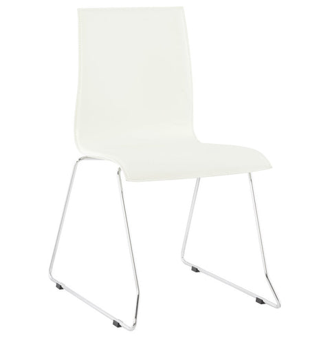 White Modern Kokoon Glasgow Dining Room Chair