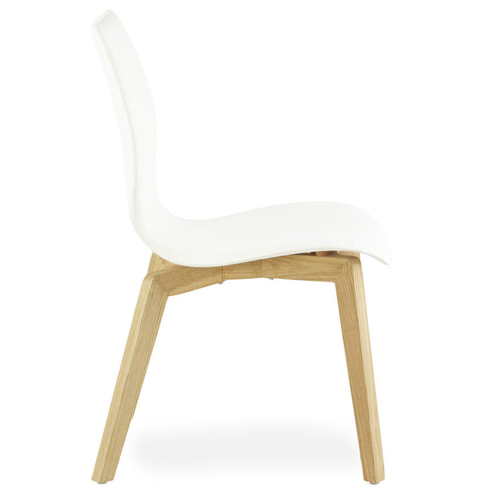 White Modern Kokoon Siret Dining Room Chair