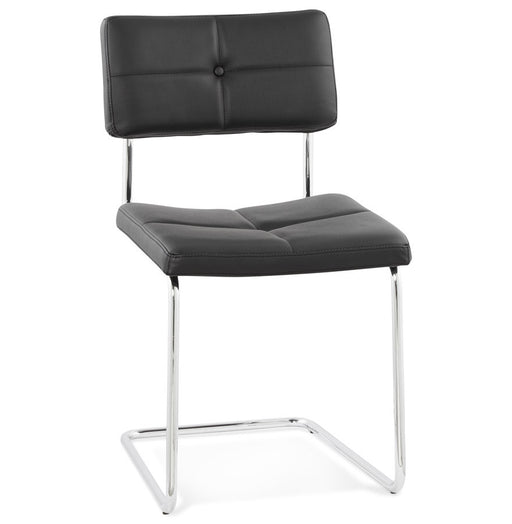 Black Retro Kokoon Leer Chair Dining Room