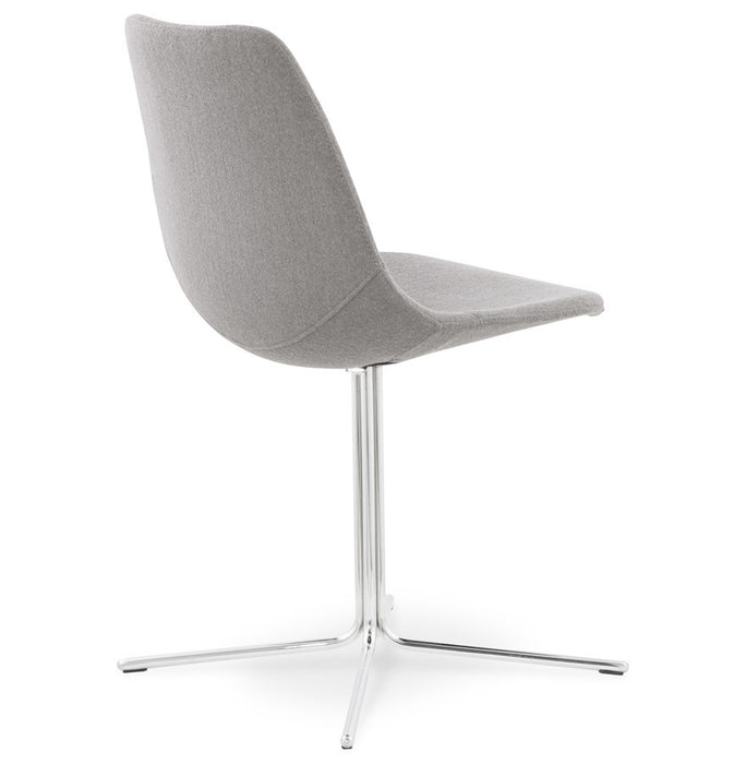 Grey & Chrome Modern Kokoon Nyoro Dining Room Chair