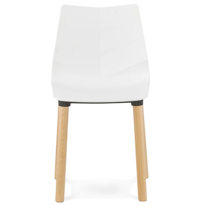 White Contemporary Kokoon Torro Chair CH01410WH