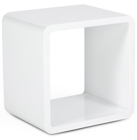 White Modern Kokoon Verso Side Table CT00140WH
