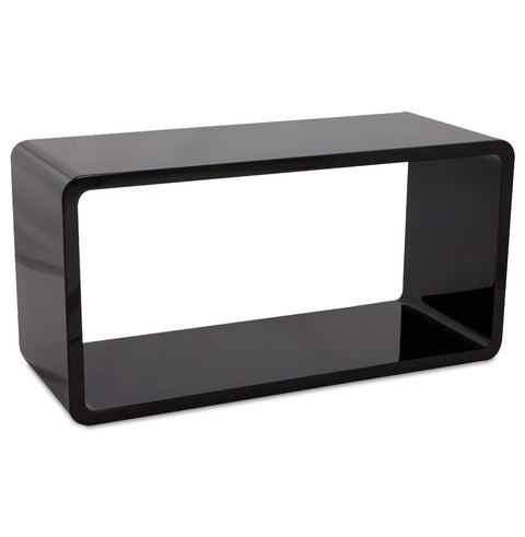 Black Modern Kokoon Recto Wooden Cube CT00230BL