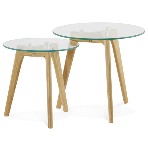 Clear Modern Kokoon Iggy 2 Piece Nest of Tables CT00370CL