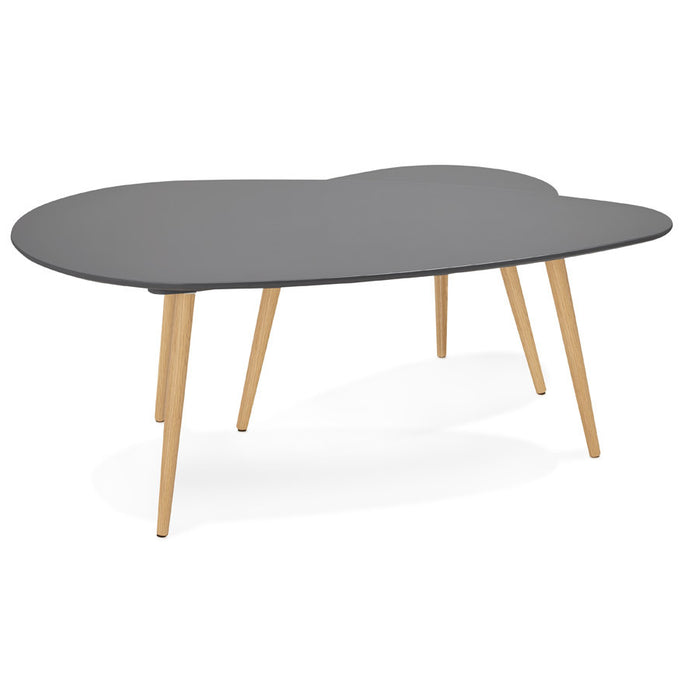 Dark Grey Modern Kokoon Gosmi 2 Piece Nest Table CT00440DG
