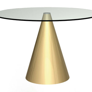 Clear Glass Gillmore Circular Dining Table