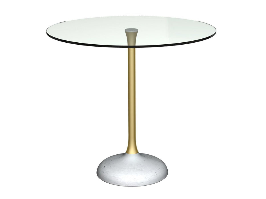 Clear Glass Round Dining Table