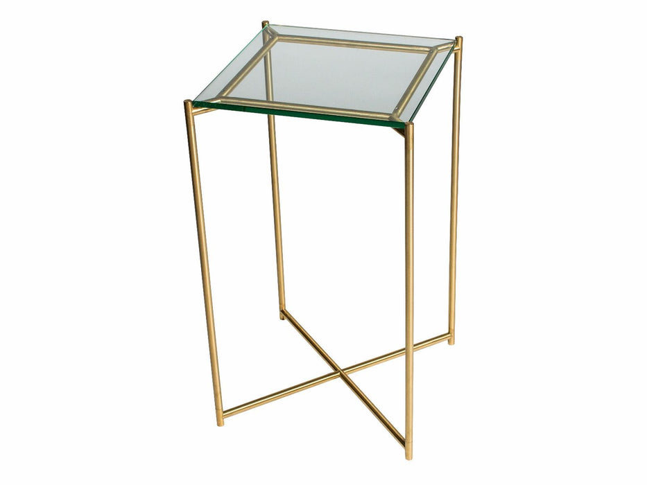 Clear Glass Square Plant Stand