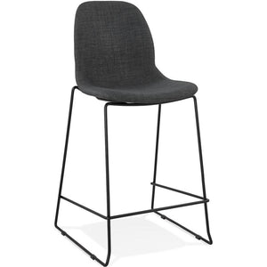 Dark Grey Modern Cooper Mini Bar Stool