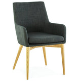 Dark Grey Upholstered Kokoon Gagu Armchair AC01240DG