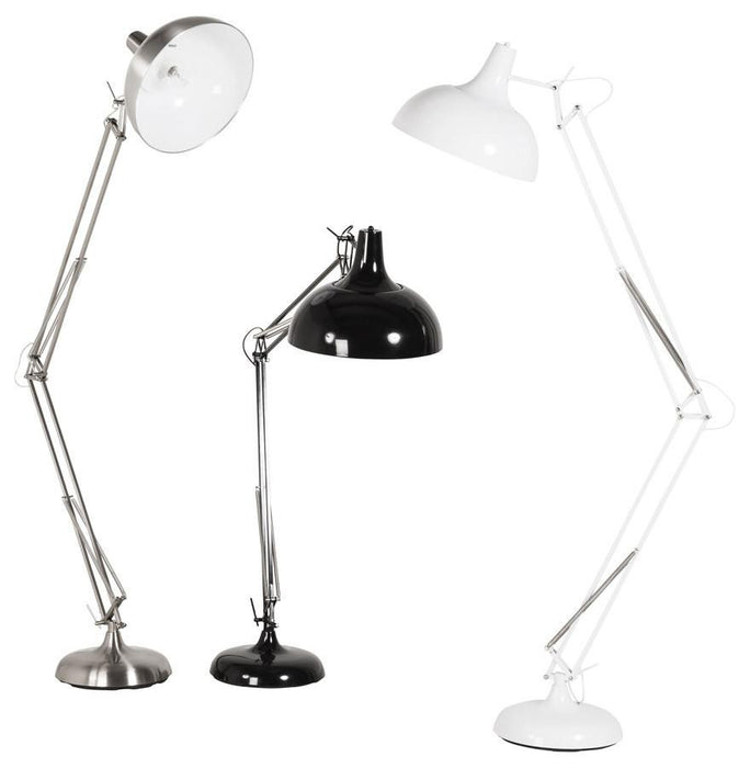 Brushed Chrome Retro Pix Floor Lamp