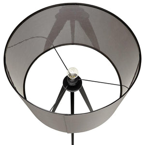 Grey and Black Modern Trivet Floor Lamp