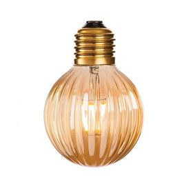 Glass Amber LED Decorative Lamp