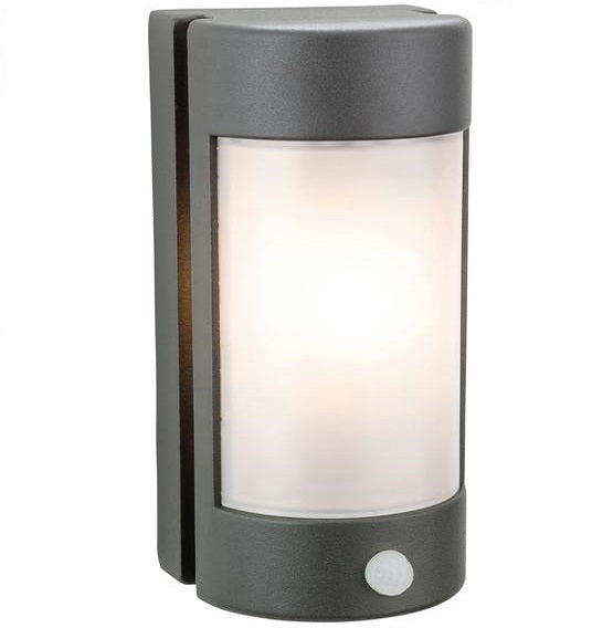 Graphite Arena Wall Light with PIR