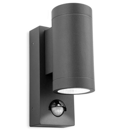 Graphite Shelby 2 Light Wall with PIR