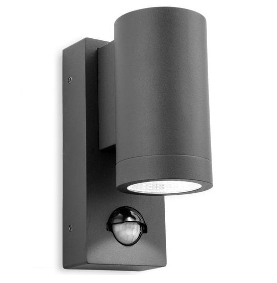 Graphite Shelby Single LED Wall with PIR