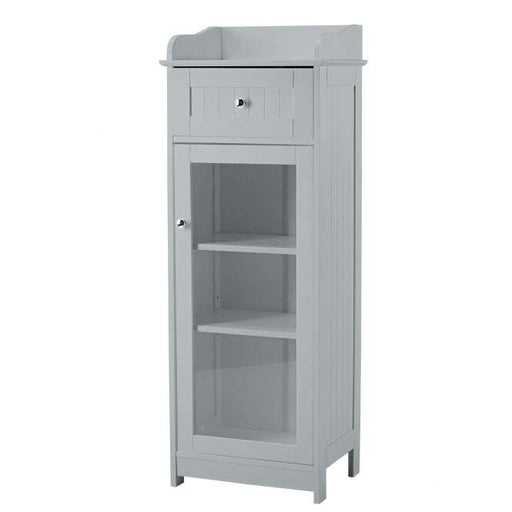 Grey Alaska Glass Cabinet