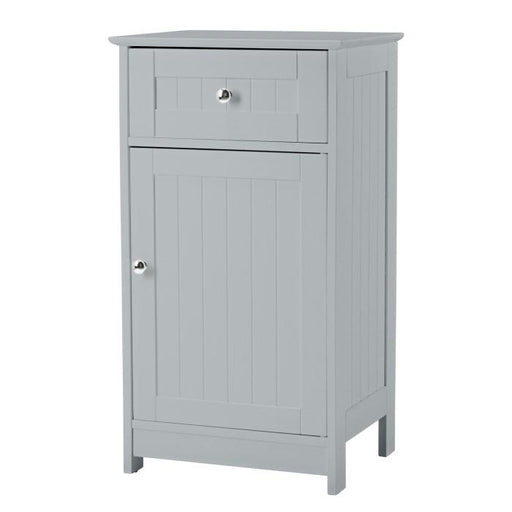 Grey Alaska Low Bathroom Cabinet