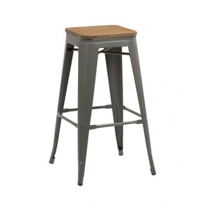 Grey Birlea Downtown Bar Stools (Sold in Pairs)