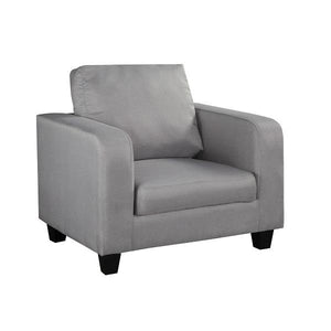 Grey Linen Fabric Armchair