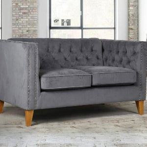 Grey Velvet Birlea Florence Sofa Bed