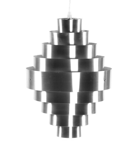 Silver Contemporary Kokoon Aztek Hanging Lamp HL00160SI