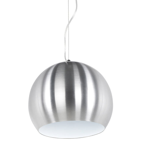Brushed Steel Contemporary Kokoon Jelly Hanging Lamp HL00330BSWH