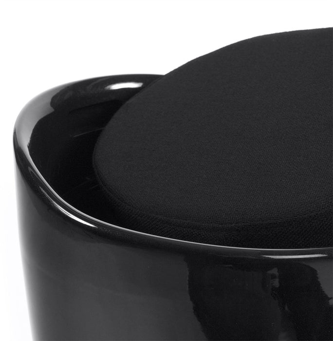 Black Designer Kokoon Ese Low Stool LS00080BL