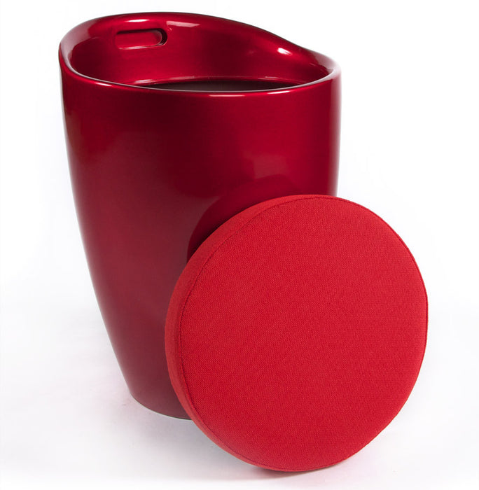 Red Modern Kokoon Ese Low Stool LS00110RE