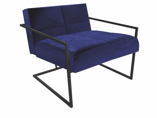Matt Black Blue Armchair