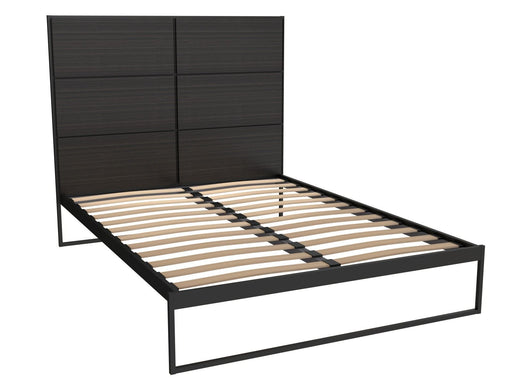 Matt Black King Size Bed Frame with Black Headboard