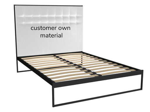Matt Black King Size Bed Frame with Headboard