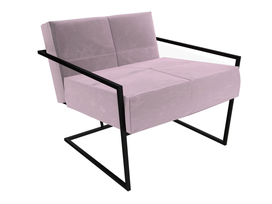 Matt Black Pink Armchair