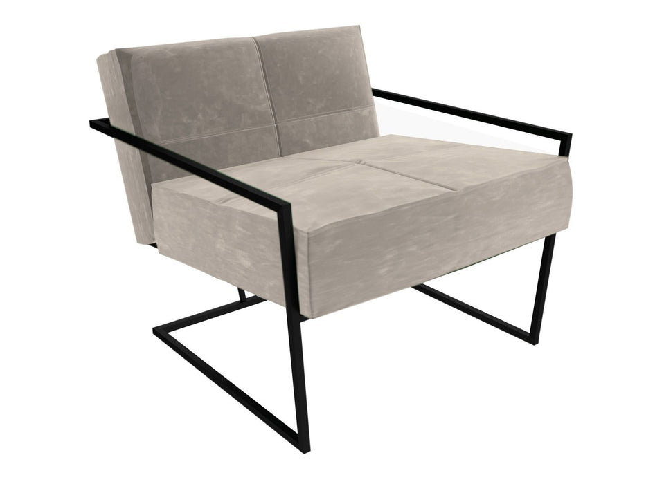 Matt Black Silver Armchair