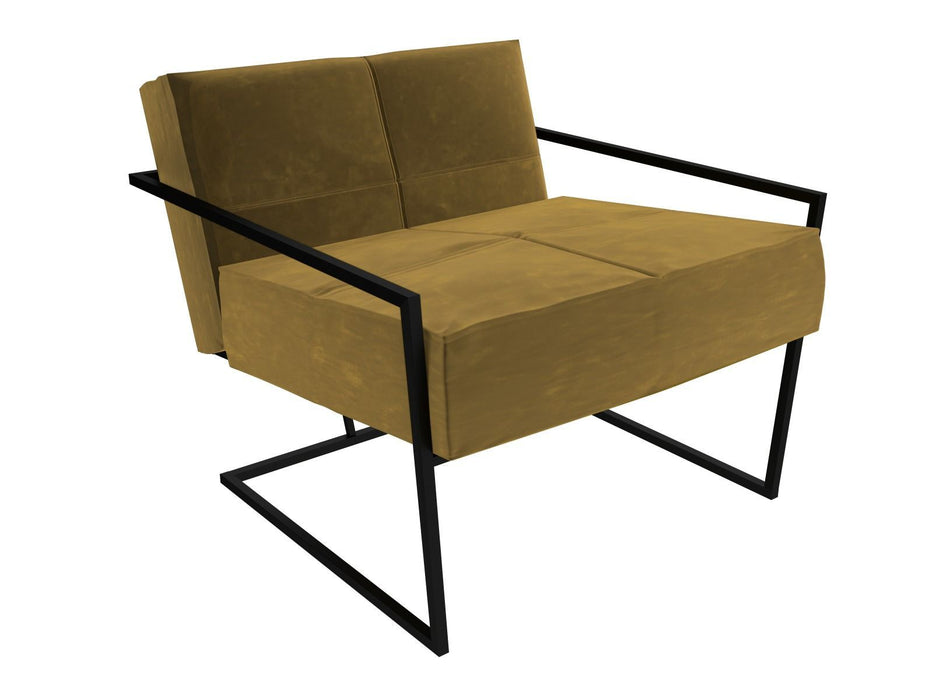 Matt Black Yellow Armchair