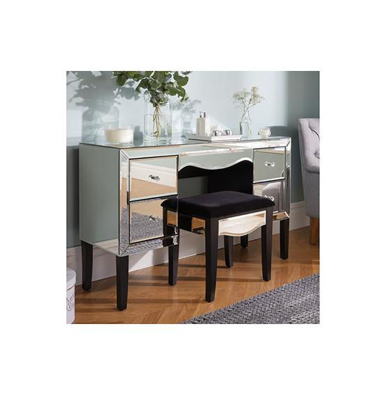 Mirrored Birlea Palermo 4 Drawer Desk