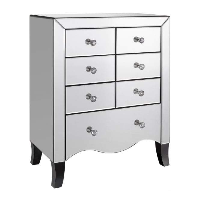 Mirrored Valentina 7 Drawer Chest