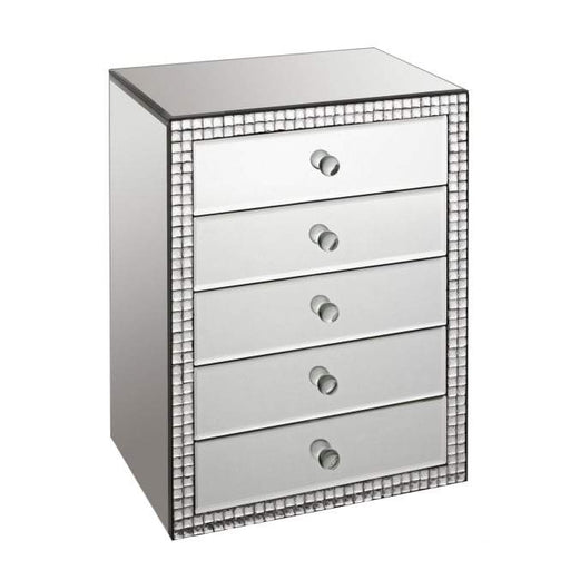 Mirrored Valentina Jewellery Chest