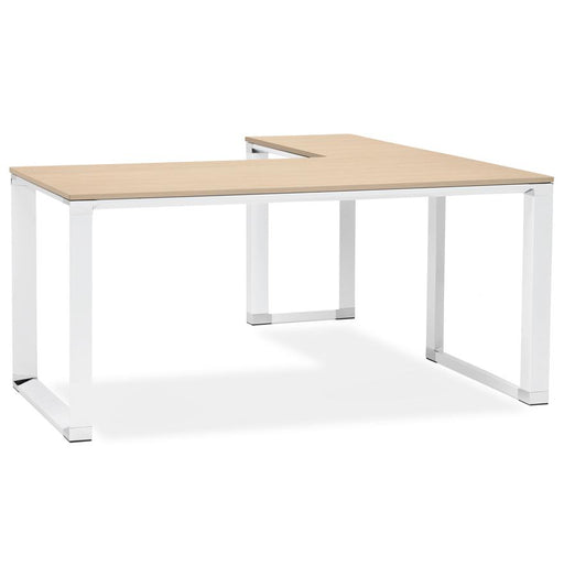 Natural & White Warner Office Corner Desk