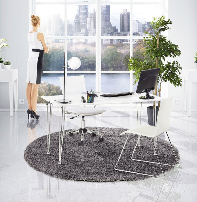 White Modern Kokoon Oxford Office Chair OC00230WH