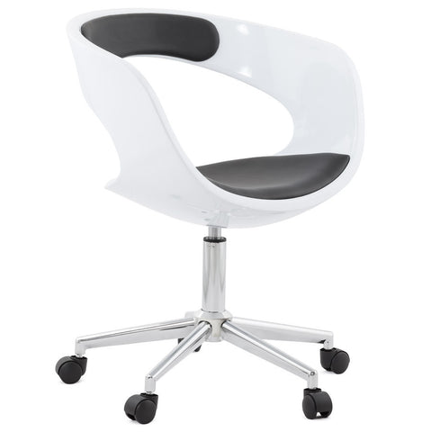 White & Black Designer Kokoon Felix Office Chair OC00250WHBL
