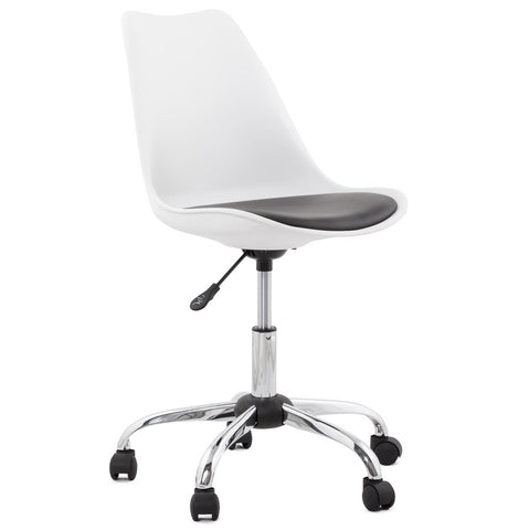 White & Black Modern Kokoon Edea Office Chair OC00290WHBL