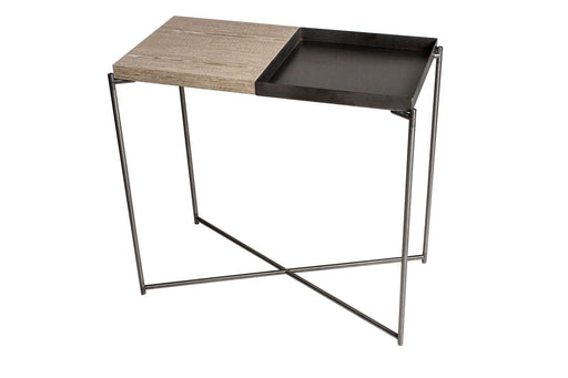 Oak & Gun Metal Gillmore Console Table