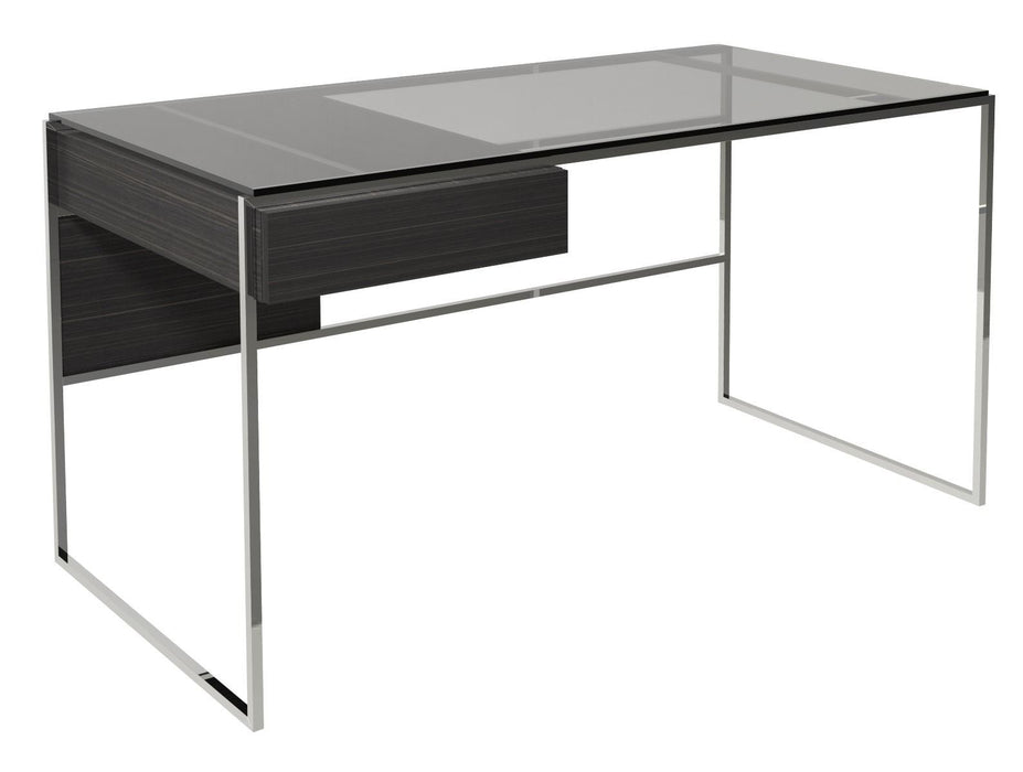 Polished Chrome Black Desk