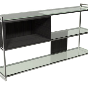 Polished Chrome Low Bookcase
