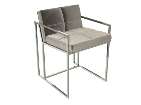 Polished Chrome Silver Dining Chair