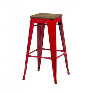 Red Birlea Downtown Bar Stools (Sold in Pairs)