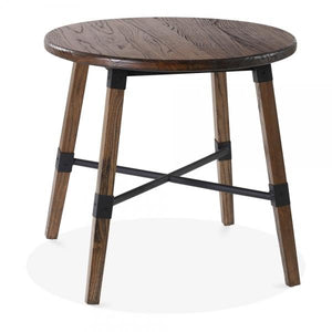 Brown Round Wooden Dining Table