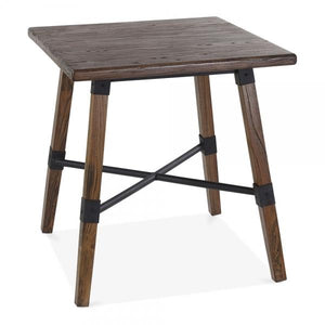Brown Square Wooden Dining Table